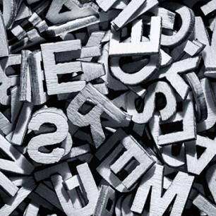 monochrome-letters